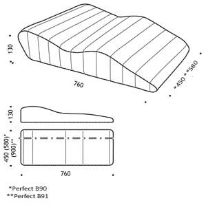 Wymiary poduszki pod nogi