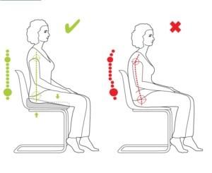 Pozycja podczas siedzenia na poduszce Valde